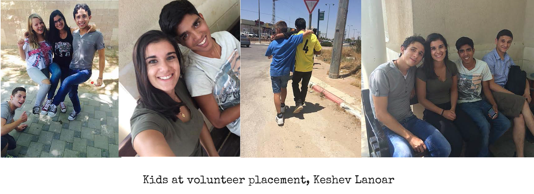 Images of volunteer work in Israel