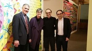 Professor Shoulson, Gary Shteyngart, Professor Sasha Senderovich, Rabbi Donna Berman