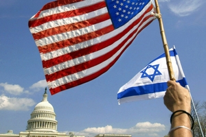 American and Israeli flags