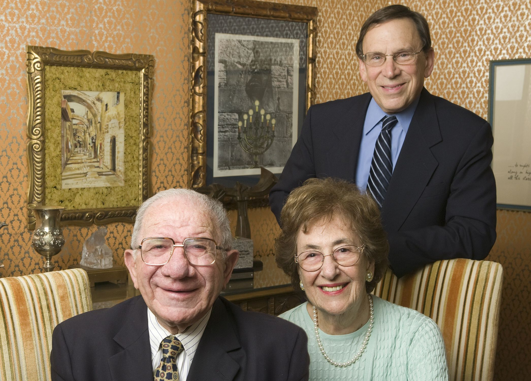 Arnold Dashefsky with donors Doris and Simon Konover