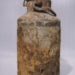 Milk can used to store documents in Warsaw Ghetto