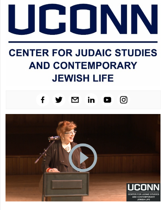 UConn Center for Judaic Studies May 2018 ENews
