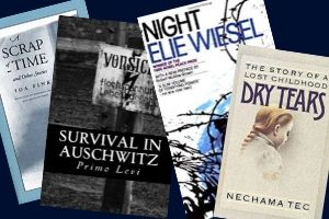 Holocaust literature book covers