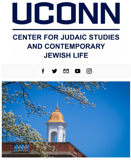 Center for Judaic Studies March 2020 Enews